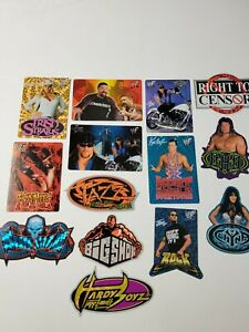 14x LOT WWF Vintage Vending Machine Stickers RARE Stone Cold HHH Hardy Boyz
