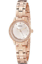 GUESS W0693L3,Ladies Dress,Stainless Steel,Rose Gold-Tone,Crystal Accented Bezel
