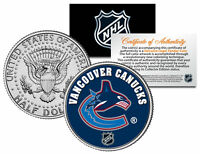 VANCOUVER CANUCKS NHL Hockey JFK Kennedy Half Dollar U.S. Coin * LICENSED *