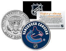 VANCOUVER CANUCKS NHL Hockey JFK Kennedy Half Dollar U.S. Coin * LICENSED *