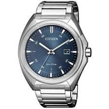 Citizen Eco-Drive Men's Blue Dial Calendar Bracelet 41mm Watch AW1570-52L