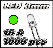 """E218# """"Livraison gratuite"""" LED vert 3mm de 10 à 1000pcs  green LED"""
