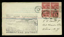 #681 BLOCK of 4 OHIO RIVER   FDC-HOMESTEAD, PA--PLANTY 681-2 & 681-3 CACHETS