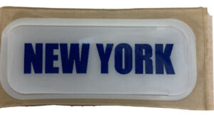 NEW YORK Full Size Football Helmet Front Bumper Decal