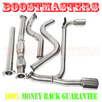 DOWNPIPE FOR 2003-2005 DODGE NEON SRT-4 DUAL 4.75 TIP CATBACK EXHAUST SYSTEM