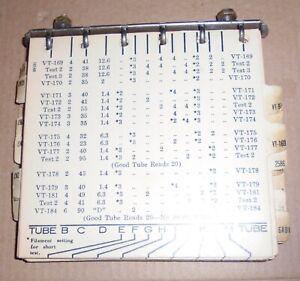 ORIGINAL Triplett 1183 Tube Tester Tube selector Flip Chart