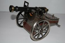 Vintage Military Cannon Music Box with Storage - Genuine Leather & Metal