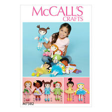 McCall's 7582 Sewing Pattern to MAKE Soft Dolls & Clothes - Out of Print