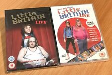 2 X LITTLE BRITAIN LIVE DVD Blackpool Opera House, Comic Relief New Sealed Reg 2