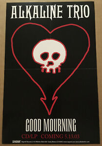 ALKALINE TRIO Rare 2003 PROMO POSTER for Good Morning CD 11x17 USA NEVER DISPLAY