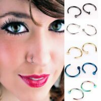 Fashion Charming Clip on Fake Non Piercing Body Jewelry Nose Ring Nostril Hoop