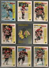 1992-93 Panini Hockey Stickers Chicago Black Hawks Team Set (17)
