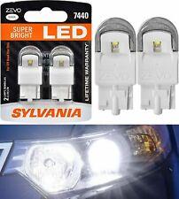 Sylvania ZEVO LED Light 7440 White 6000K 2 Bulbs Rear Turn Signal Lamp,Italy