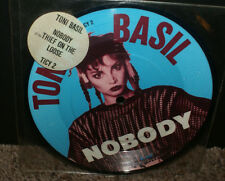 TONI BASIL NOBODY RARE UK 1981 PICTURE DISC 45 RPM MINT UNUSED W/HYPE STICKER
