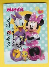 New listing Sophia Loren Autographed Minnie Mouse Disney Card Inscribed
