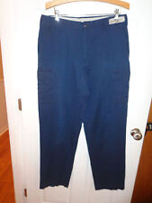 "Men's Blue Cintas Police SWAT Tactical EMS Cargo BDU Pants Size 35x33 1/2"" SU5"