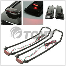 Saddlebags Lid Rack Top Rail Guard W/ Light For Harley Touring Models 1994-2013