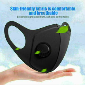 Face Mask Washable,Reusable,Sports Black, 3 PLY Face Masks dust flu all type