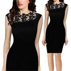 New Women Lace Sleeveless Bodycon Cocktail Evening Party Short Mini Dress