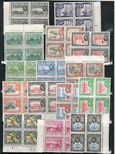 British Guiana #253 - #267 Very Fine Never Hinged Block Set