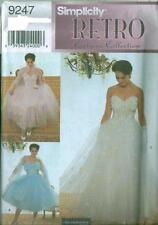 Simplicity 9247 Misses Retro Costume Collection Prom Gown Sewing Pattern 6 - 12
