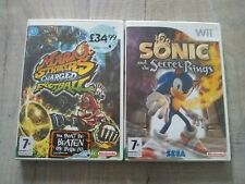 Wii Mario Strikers Charged Football & Sonic Secret Rings game lot