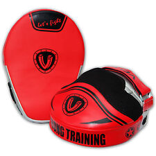 VELO Focus Pads Hook & Jab Mitts Kick Boxing MMA Strike Punching Kick Curved SRD