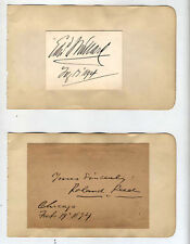 5 RARE AUTOGRAPHS-1800S-PAULINE HALL,JANE HARDING,WILLIAM H. CRANE,ROLAND REED