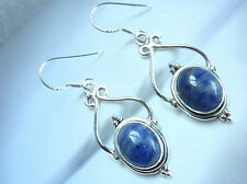 Sodalite 925 Sterling Silver Dangle Drop Earrings Fashion Gift New