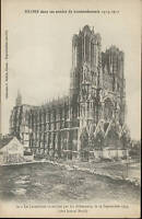 51 - CPA - Catedral de Reims Quemado