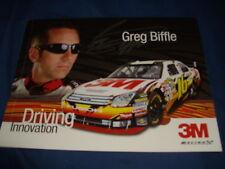 2009 GREG BIFFLE #16 3M NASCAR POSTCARD