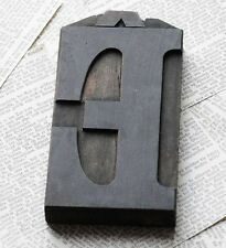 "letter: Ê rare bold wood type 6.22"" woodtype font letterpress printing block"