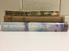 3 Ion L Idriess Books - The Silver City The Opium Smugglers The Cattle King