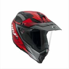 CASCO INTEGRALE AGV AX-8 DUAL EVO KARAKUM BLACK GUNMETAL RED TAGLIA XL