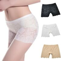Women Lady Lace Floral Seamless Safety Panties Shorts Leggings Pants Underwear