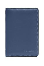 Coach Men's Slim Blue Leather Card Wallet w Colorblock Signature Canvas, 89207