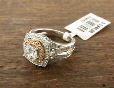 Simon G 18k White & Pink Gold Diamond Double Halo Engagement Ring Setting