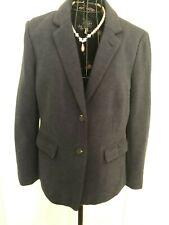 Stunning Ladies JOULES Agatha Navy Cotton Blazer Jacket UK 14 Floral Lining
