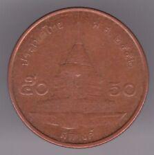 Thailand 50 Satang 2009 Copper Plated Steel Coin - King Bhumibol Adulyadej