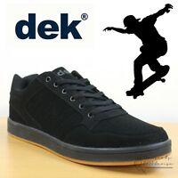 DEK Quark V2 Men's & Boys Skate Shoes Skateboard Trainers Black Casual Sneakers