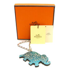 Authentic HERMES Porte Cles Lucky Haati Elephant Bag Charm Key Holder #S308010