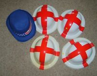 BATCH OF 5 BUDGET FANCY DRESS HATS ST GEORGE BOWLERS AMERICAN TOP ALL DAMAGED!