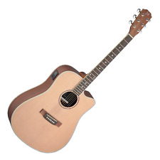 More details for j.n guitars asyla series asy-dce electro-acoustic guitar in natural