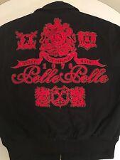 PELLE PELLE WOOL JACKET TRUE ORIGINAL  TRADE MARK BLACK / RED EMBROIDERED LARGE