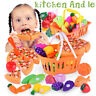 1 Set Children Kids Girl Role Play Toy Simulation Fruit Vegetables Gift Fun Game