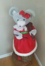 """Motionettes Christmas Mouse playing The violin Animated musical Figure 27"""""""