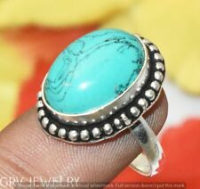 """Turquoise Gemstone Ring 925 Sterling Silver Overlay Us Size 6"""" U295-B143"""