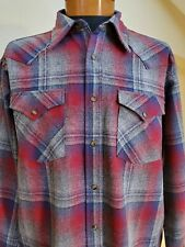 New PENDLETON Washable Wool Western Style Canyon Shirt,Great Colors & Pattern- L