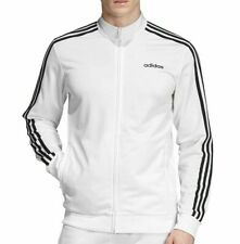 NEW ADIDAS MEN'S ESSENTIALS 3 STRIPES TRICOT TRACK JACKET~  LARGE  #EB3989 WHITE