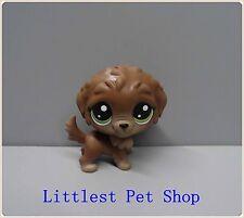 Cute lps Littlest Pet Shop dog w green eyes figure #hg6
